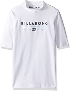 Billabong Boys '半袖レギュラーフィットラッシュガード US サイズ: 16 カラー: ホワイト