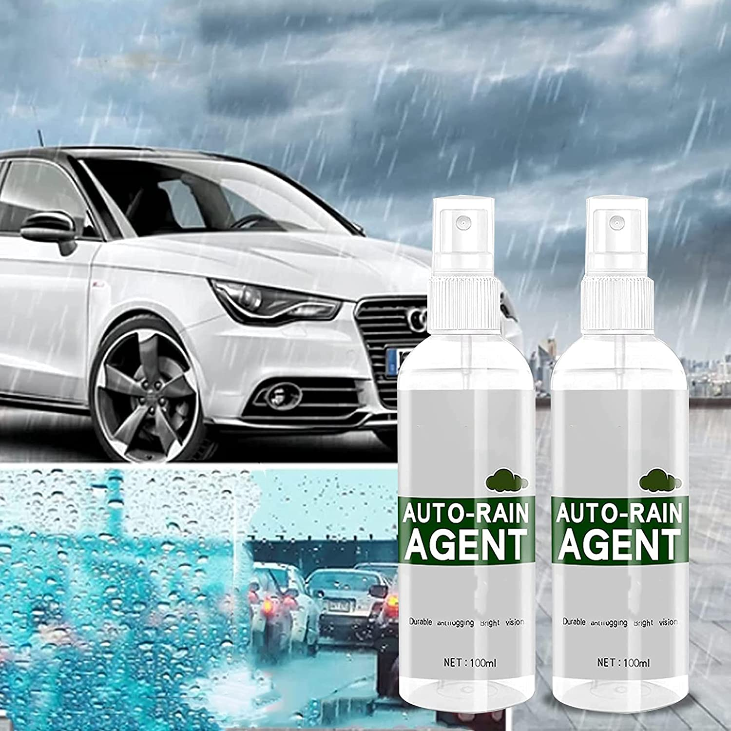 Yqwheg Max 75% OFF 2PCS price Car Glass Waterproof Agent Rain Coating S Repellent