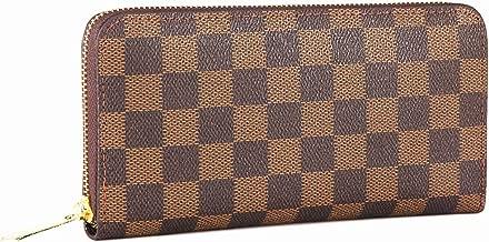 Miracle Checkered Zip Around Wallet | RFID Blocking | Phone Clutch/Card Holder/Organizer for Men Women | PU Vegan Leather