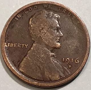 1916 D Lincoln Wheat Cent Penny Good Detials