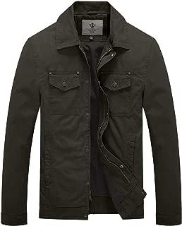 Men's Fall Military Canavas Cotton Lapel Jacket Windbreaker