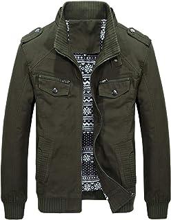 CFWL Giacca da Uomo Invernale Giacca Casual Multitasche Ampia Giacca Taglie Forti Jacket Giacca in Jeans Uomo Classico Sot...