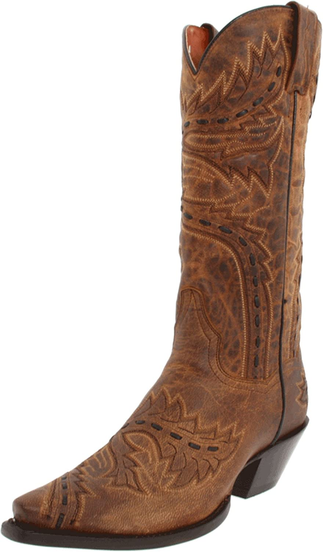 Dan Post Women's Sidewinder Western Boot Brown