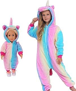 Disfraz de pijama de unicornio para muñecas y niñas