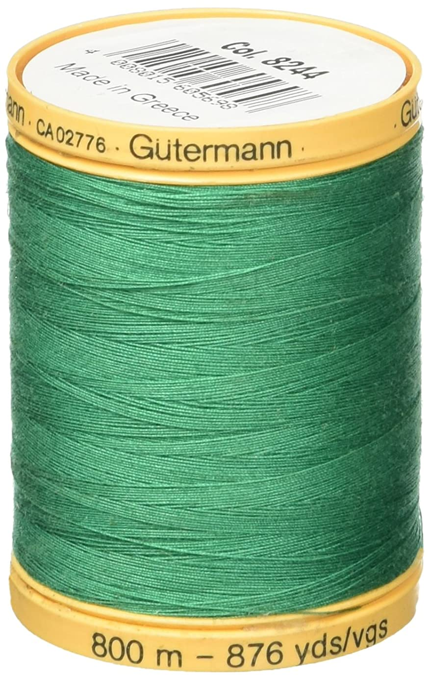 Gutermann 800M-8244 Natural Cotton Thread, 800m/875 yd, Garden Green