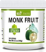 Monk Fruit Extract 5.3oz (150g) 300 Serving, Sugar Free, Zero-Calorie Sugar Substitute