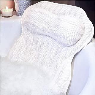 Luxury Bath Pillow Bathtub Pillow - Ergonomic Neck Support Like No Other - 3D Air Mesh Technology - Non Slip, Machine Washable & Quick Dry Bath Pillows for Tub