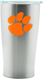 NCAA Clemson Tigers 14oz Double Wall Stainless Steel Thermo Cup with Lid