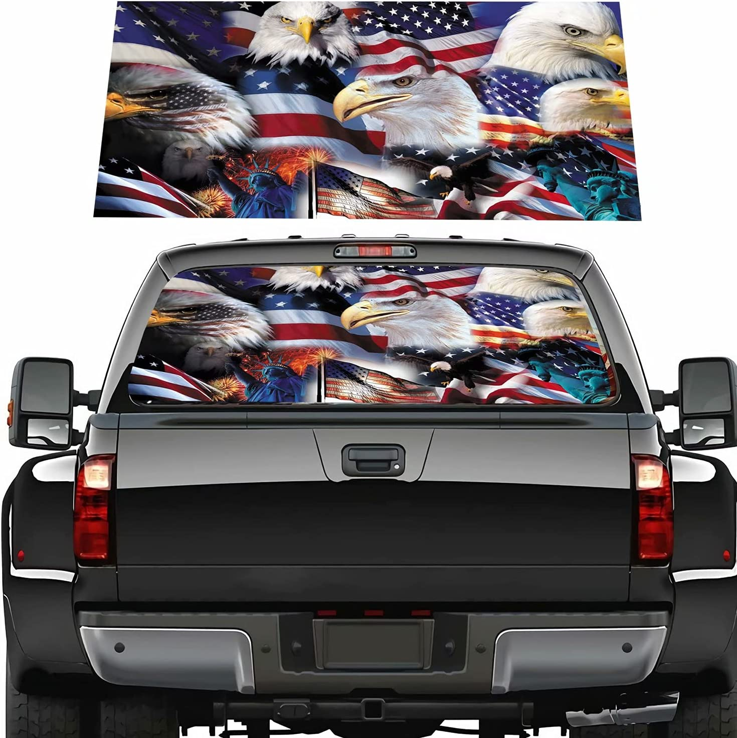 Patriotic Max 84% OFF American Outlet sale feature Car Rear Window Decal Graphic Wrap Independen