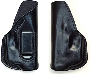 Turtlecreek Leather IWB Holster for Glock 26 with TR6 ArmaLaser in Right Hand Pattern and Fixed Clip