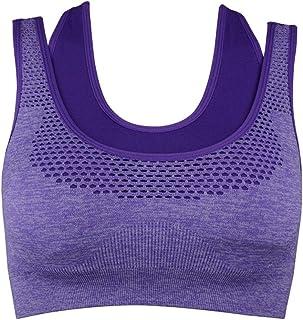 ZYDP Women Racerback Sports Bras - High Impact Workout Gymnasium Activewear Bra (Color : Orange, Size : L)