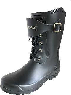 [アマート] ジュニア レースアップ ブーツ 長靴 雨靴 通学 親子 ファミリー 4色 ガールズ ボーイズ AMT-3101