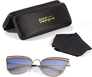 Sunglasses - Premium Cat-Eye Polarized Sunglasses with Case and Cloth - by Pointed Designs