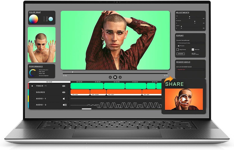 Dell XPS 17 9710, 17 inch UHD+ Touchscreen Laptop - Intel Core i9-11900H, 32GB DDR4 RAM, 1TB SSD, NVIDIA GeForce RTX 3060 6GB GDDR6, Windows 10 Pro - Platinum Silver (Latest Model)