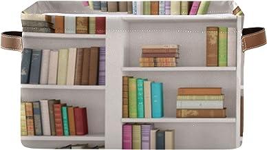 ALALAL Boîte de Rangement rectangulaire Organisateur de Rangement Livres dans la bibliothèque bibliothèque Organisateur bo...