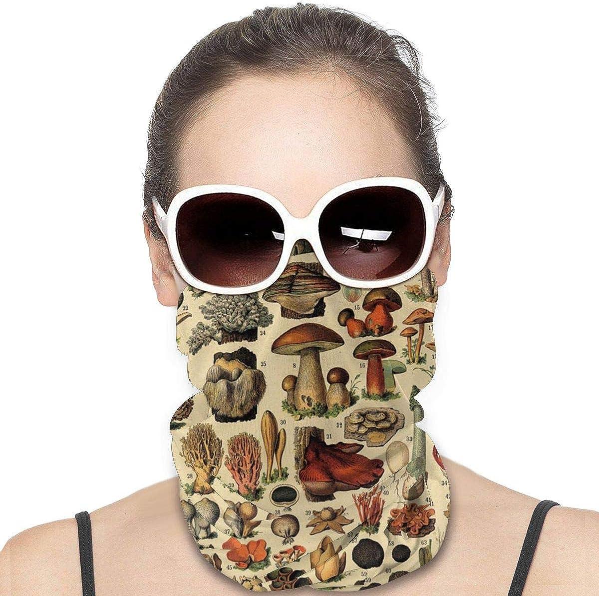 JinSPef Bandana Face Mask - Popular Mushroom Collage Bandana Face Mask Neck Gaiter Head Bands Neck Gaiters for Men Headbands Face Mask Bandana