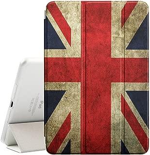 Graphic4You Vintage UK United Kingdom Union Jack Flag Design Ultra Slim Case Smart Cover Stand [with Sleep / Wake Function] for Apple iPad Mini 4