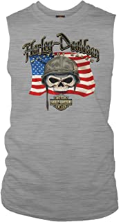 HARLEY-DAVIDSON Men's Muscle Tee - Willie G Flag | Overseas Tour
