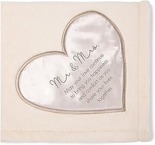 Pavilion Gift Company Soft Mr & Mrs Thick Warm Royal Plush Throw Blanket