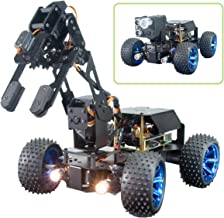 Adeept PiCar-Pro Raspberry Pi Smart Robot Car Kit Programming 2-in-1 4WD Car Robot with 4-DOF Robotic Arm,Electronic DIY R...