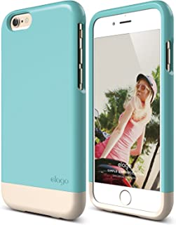 iPhone 6 Case, elago [Glide Limited-Edition][Coral Blue/Champagne Gold] - [Mix and Match][Premium Armor][True Fit] – for i...