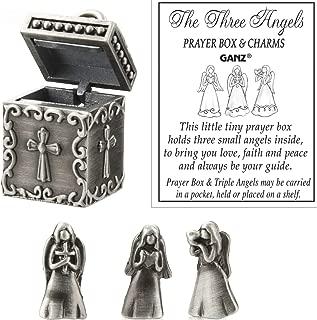 Ganz Angel Prayer Box Trinket - Triple Angels Charm Pewter