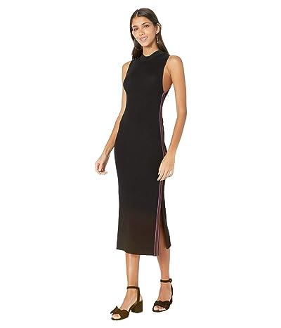 Cupcakes and Cashmere Leola Sleeveless Sweater Dress w/ Stripe Trim (Black) Women