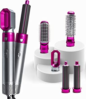 iLulisee 5 in 1 Hair Dryer Brush and Volumizer, Electric Hair Dryer Blow Curler Set Detachable Hair Dryer Styler, One-Step...