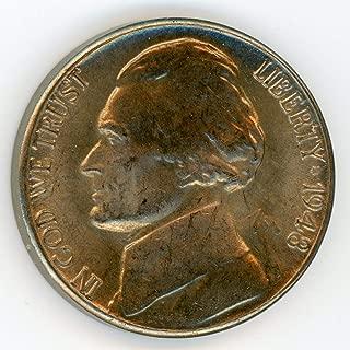 1948 D Jefferson Nickel MS-64 + (90% Steps)
