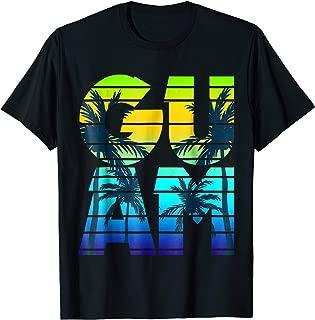 Guam Retro Pride T-shirt 80s 90s Design Guamanian Gift