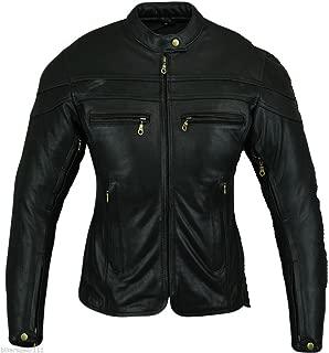 Bikers Gear Australia Ladies Sturgis Premium Leather Motorcycle Jacket Black