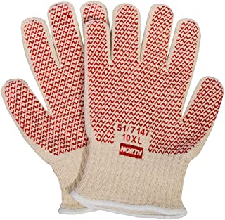 Honeywell North Grip N Hot Mill Nitrile Coated Men's Heat-Resistant Gloves, 7 gauge, Large (RWS-57001)
