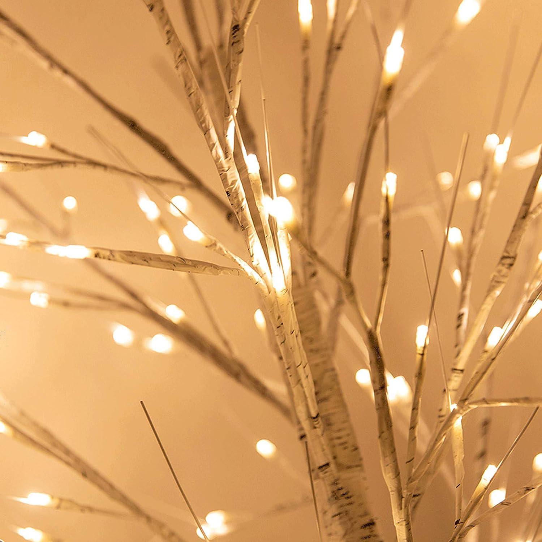 l/ámpara de /árbol con cable de alimentaci/ón USB regalo de fiesta para el dormitorio de la sala de estar de la boda L/ámpara de pie LED de abedul blanco 160 cm luz de noche blanca c/álida Size:160cm