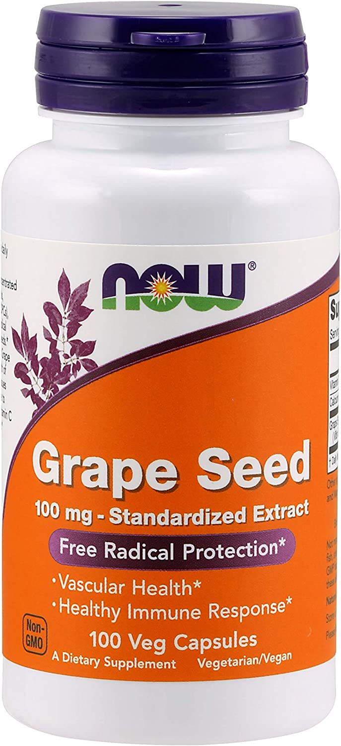Max 74% OFF Now Foods Grape Seed 100mg of 100 2 caps Pack Super sale period limited