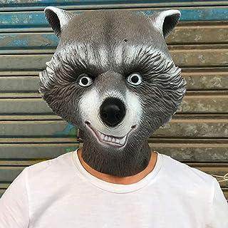 Guardians of The Galaxy 2 Rocket Raccoon mask, Arctic Black Bear Headgear, Cosplay Props