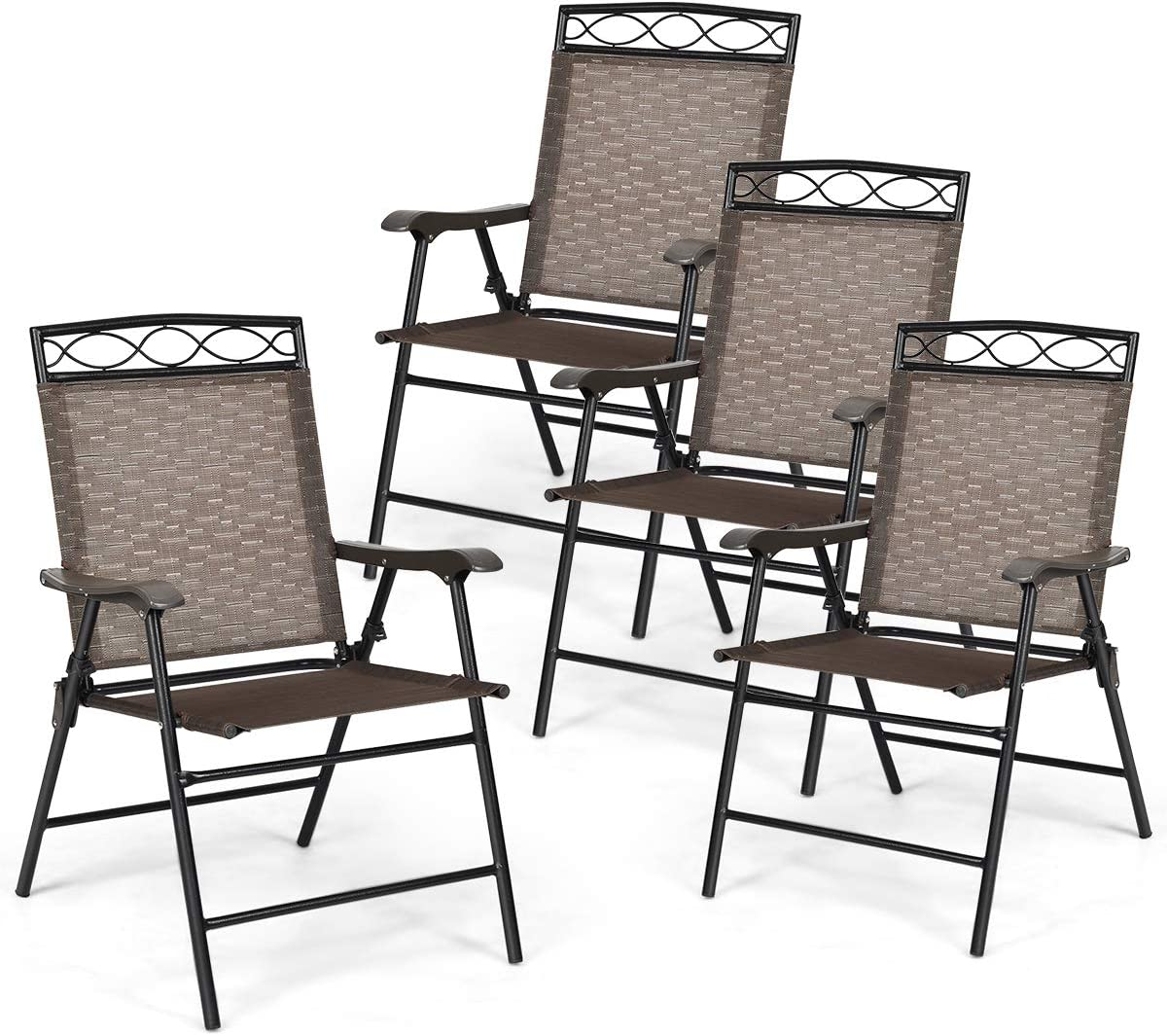 Giantex Set of 4 Patio New item Dining Outdoor Complete Free Shipping Folding for Chairs