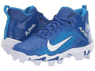 Nike Kids Alpha Menace 2 Shark Football (Toddler/Little Kid/Big Kid) (Game Royal/White/Photo Blue) Kids Shoes
