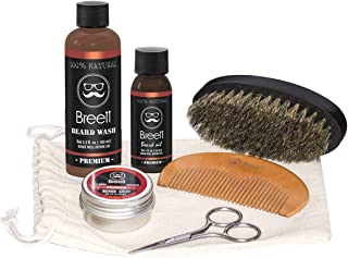 barba cuidado kit, Breett barba aceite, bálsamo barba,