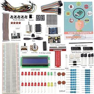 Raspberry Pi 3 Zero Starter Kit - SunFounder Project Super Kit for Raspberry Pi 3 2 Zero Model B+ A+ Including GPIO Breako...