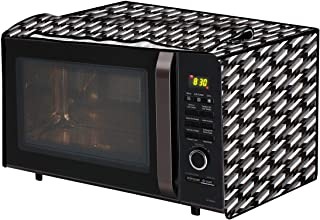 The Furnishing Tree Microwave Oven Cover for Godrej 30 L Convection InstaCook GMX 30 CA1 SIM Symmetric Pattern Black