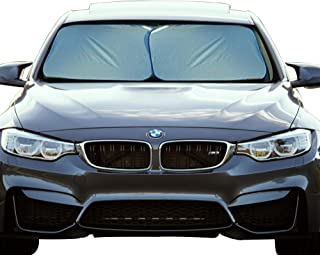 EcoNour Foldable 2-Piece Premium Car Windshield Sunshade| Easy Read Size Chart| Fit for Car, SUV, Van,Truck| 230T Nylon Material Keeps Your Vehicle Cool (Medium 28 x 31 inches (71 x 79 cm))