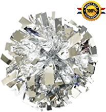 "PUZINE 2pack 12"" Cheerleading Metallic Foil & Plastic Ring Pom Poms Cheerleading Poms (80g)"