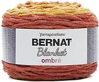Bernat 16103636008 Blanket Ombre Yarn, Orange Crush
