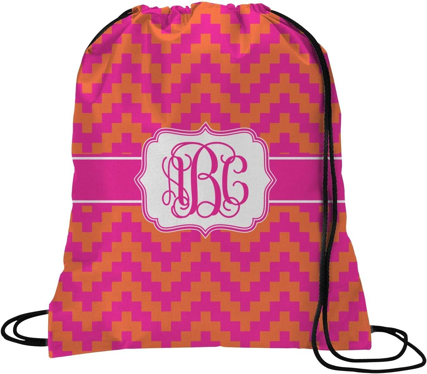 Drawstring Backpack Colorful Chevron Rucksack