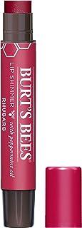Burt's Bees Lip Shimmer for Women, Rhubarb, 0.09 Ounce (37399)