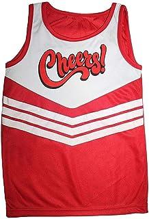 Hi Fashionz Girls Cheers Printed Vest Red White Top Sleeveless Ladies Cheerleaders T-Shirt