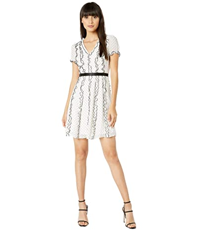 BCBGMAXAZRIA Polka Dot Cocktail Dress (Off-White Combo) Women
