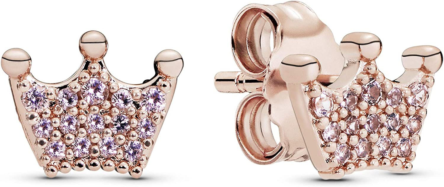 Pandora Jewelry Enchanted Outlet ☆ Free Shipping Crowns Topics on TV Ro Crystals Earrings in
