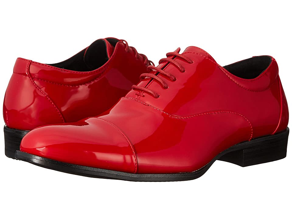 Mens Vintage Style Shoes| Retro Classic Shoes Stacy Adams Gala Red Patent Mens Lace Up Cap Toe Shoes $65.00 AT vintagedancer.com