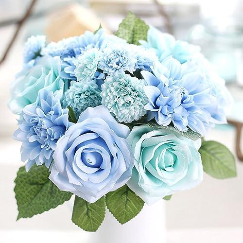 Tiffany Blue Silk Flowers Amazon Com